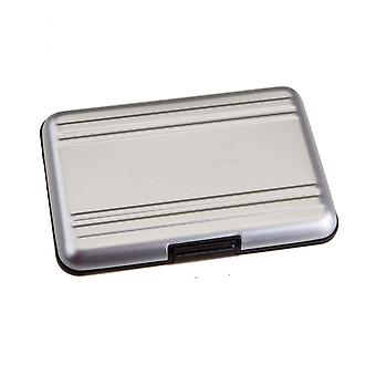 Bv & jo brushed aluminium memory card waterproof case for 8x sd / sdhc / sdxc cards compatible with