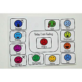 Heute fühle ich mich - Gefühle und Emotionen Diagramm - Kommunikationshilfe für non verbale Kinder / autis