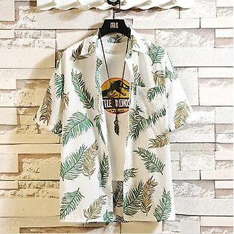 Print Marke Sommer Men's Strand Shirt, kurzarm, Floral, lose Casual Shirts