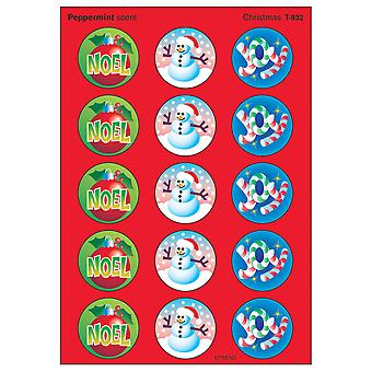 Christmas/Peppermint Stinky Stickers, 60 Ct.