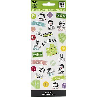 Me & amp; Mijn grote ideeën stickers 8/vellen-budget, 341/pkg