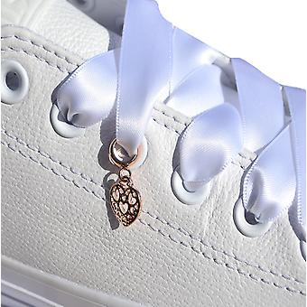 Or rose Dangle coeur Shoe Charm