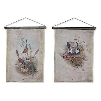 Canvas Dekodonia Canvas Birds (55 x 2 x 73 cm) (2 kpl)