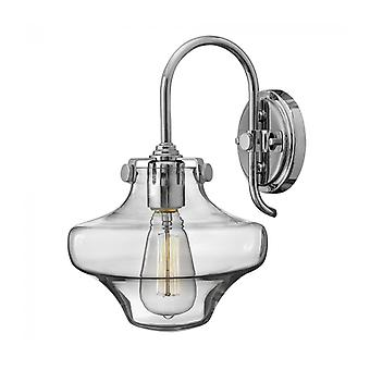 Lámpara De Pared Para Congresos, Cromo, 22 Cm