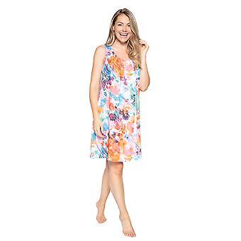 Cyberjammies Aimee 4826 Women's White Mix Floral Modal Nightdress