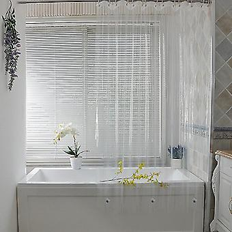 Clear Shower Curtain, Waterproof, White Plastic, Bath Curtains, Liner