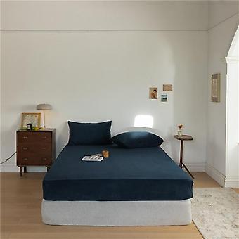 Skin-friendly Soft Velvet Fitted Bed Sheet ( Set 1)