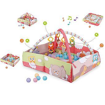 Moni Game Bow, Krabbeldecke 3 in 1 Ginger 63577, Ball Pool, Activity Center