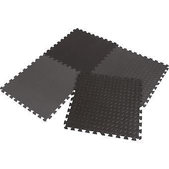 Schaumfliesenbodenschutz 60x60 cm - Set 4 Stück - Fitness Bodenmatte