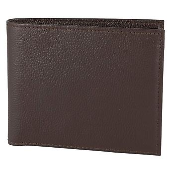 David Aster RFID Lined Coin Wallet - Brown