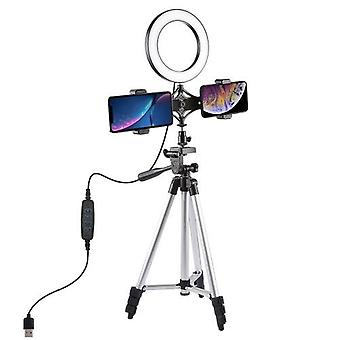 PULUZ LEDs Video Ring Light with Telescopic Light Stand