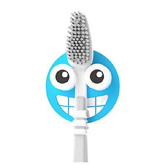 Toothbrush holder Emoji 4.7 cm PVC blue