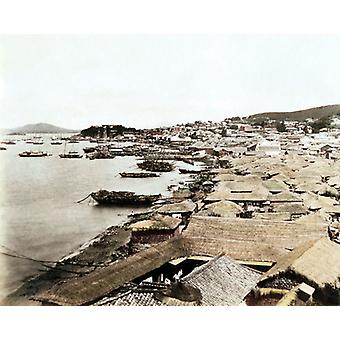 Chemulpo, Korea. Large Framed Photo. Chemulpo, Korea, main port for the capital, Seoul. Date:.