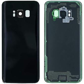 FengChun Akkufachdeckel Akkudeckel Rückseite Glas für Original Samsung Galaxy S8 G950 Serie Schwarz