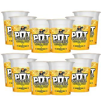 Pot Noodle Standard, 12 Pots of 90g, Choose your Flavour, Original Curry