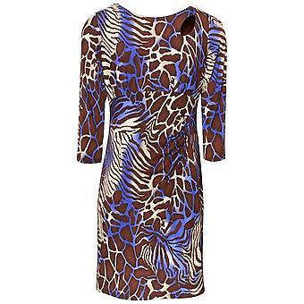 Frank Lyman Long Sleeve Animal Print Shift Dress
