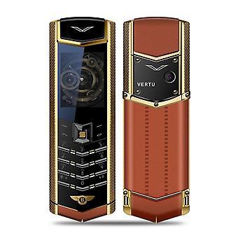 Metallirunko Luxury Bar Puhelin Dual Sim Bluetooth Dialer