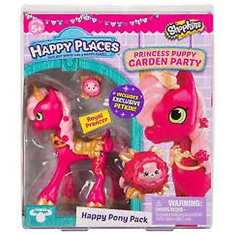 Shopkins - Happy Places Season 4 Royal Prancer Doll - Princess Puppy Garden Party Playset