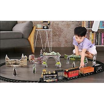 Batterij bediende spoorweg klassieke goederentrein water stoomlocomotief speelset