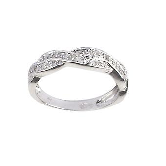 Ring Alliance 'Tornado' Wit Goud en Diamanten
