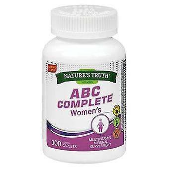 Naturens sanning ABC Komplett Kvinnors Multivitamin, 100 flikar
