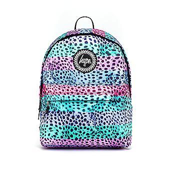 Hype Stripe Pastel Cheetah School Sports Gym Fashion Backpack Rucksack Bag Multi