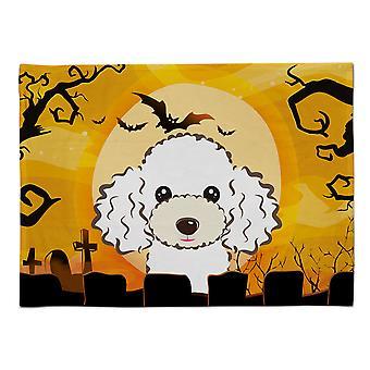 Caroline's Treasures BB1815PLMT Halloween Weißer Pudel Stoff Tischset, Multicolor