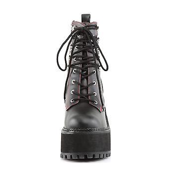 Demonia Kvinder's Støvler ASSAULT-100 Blk Vegansk Læder