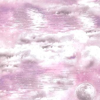 Arthouse Watery Skies Rose Papier peint 692501