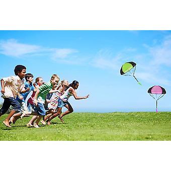 inder Hand werfen Fallschirm, 2 × Hand werfen Fallschirm Spielzeug,Kinder Fallschirm,Spielzeug