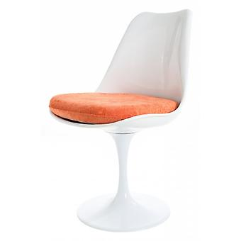 Fusion Living kiiltävä valkoinen ja oranssi ylellinen kääntyvä sivutuoli