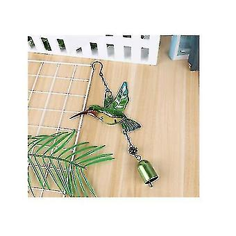 Glass Hummingbird Wind Chimes, Outdoor Windchimes Indoor Stained Glass Wind Chime Metal
