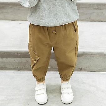 Pantaloni per bambini Tasche Pantaloni cargo Pantaloni per bambini Solidi