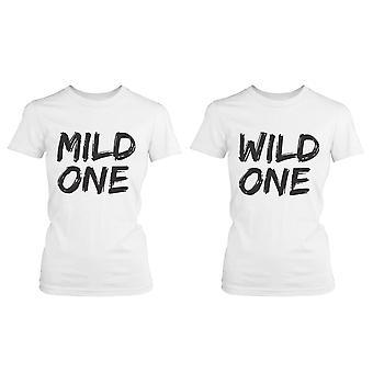 Söt bästa vän T Shirts - Mild en och Wild One - roliga BFF matchande tröjor