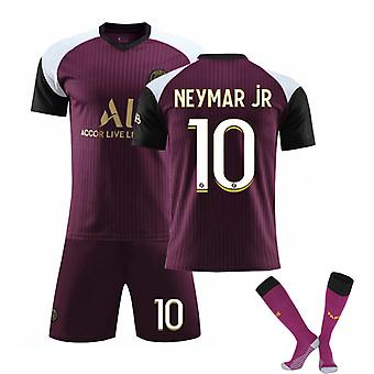Neymar jr #10 Jersey 2021-2022 New Season Paris Soccer T-Shirts Jersey Set för kids youths