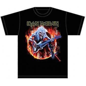 Iron Maiden Frykt Levende Flammer Mens T Skjorte: X Stor