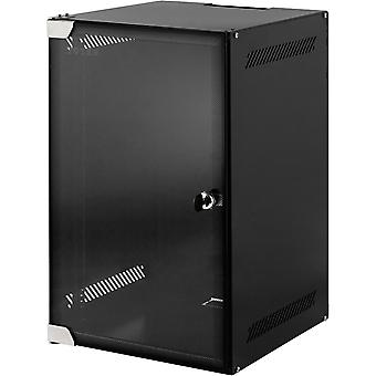TOTEN, 10 ' wall cabinets, 9U, 280x310, glass door, unassembled, black