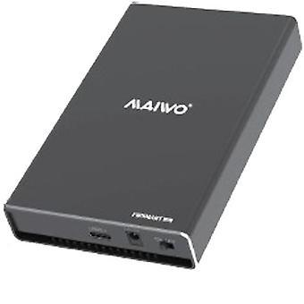 External Dual-M.2 SSD Enclosure, USB 3.0, USB-C, 10 Gbps, Black