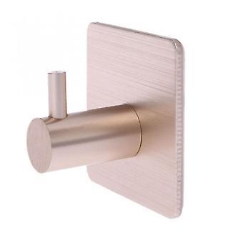 Stainless Steel Self Adhesive Wall Coat Rack Key Holder Rack Towel Hooks Clothes Rack Hanging Hooks Bathroom Accessories Gold