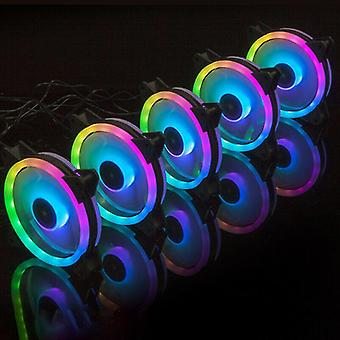 Computer system cooling parts pc computer case rgb cooling fan cooler with led light quiet remote multi-colour