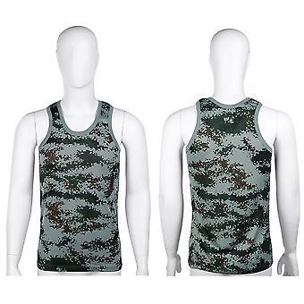 फैशन सैन्य शैली पुरुषों बनियान छलावरण टैंक शीर्ष तंग खेल पतला