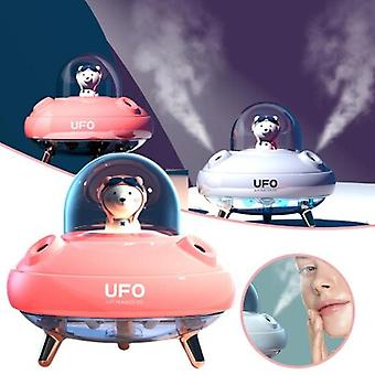 Double Spray Humidifier Silent Ufo Colorful Lights Home Water Replenishment For Office