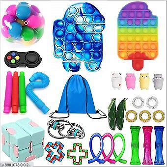 Sensory Decompression Toy Set Puzzle Diy Combination Toys -38
