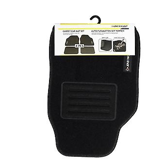 Set of 4 Universal Dunlop Black Car mat set Carpet