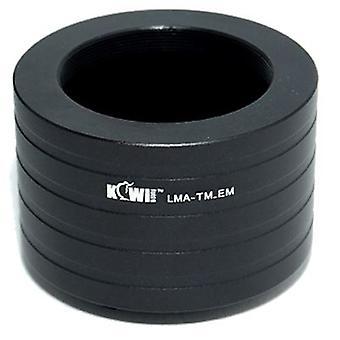 Připojovací adaptér kiwifotos čoček: umožňuje, aby byly použity T Mount čočky (teleskopy, mikroskopy, Zvětšovače, vlnovky atd.), které se používají na jakémkoli těle kamery E-Mount-NEX-3, NEX-5, NEX-5N, NEX-7, NEX-C3