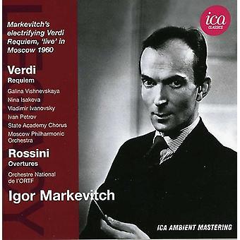 Verdi/Rossini - Verdi: Requiem; Rossini: Overtures [CD] USA import