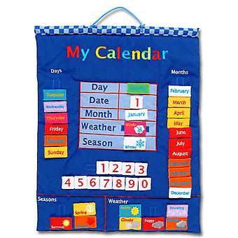 Mein Kalender blau Wandbehang