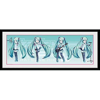 Hatsune Miku Hatsune Chibi Framed Collector Print
