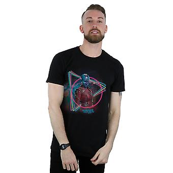 Marvel Men's Guardians Of The Galaxy Neon Nebula T-Shirt
