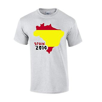 Spain 2014 Country Flag T-shirt (grey)